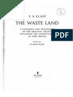 T. S. Eliot. Facsimil de Waste Land