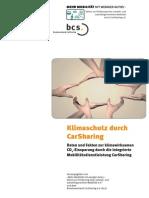 Klimaschutz durch CarSharing