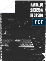 Manual de Sonorizacion en Directo - Carles P.Mas