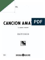 Emilio Pujol Cancion Amatoria