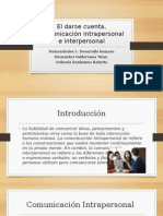 Comunicación Intrapersonal e Interpersonal