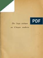Du Sage Antique Au Citoyen Moderne (Bréhier, Delacroix)