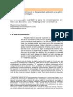 La Metodología Cualitativa Para La Investigación en Ciencias Sociales