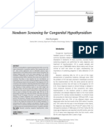 Newborn Screening for Congenital Hypothyroidism