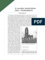Projekty nového katolického kostela v Podmoklech