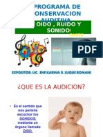 CONSERVACION AUDITIVA_oido,Ruido y Sonido- PRIMERA PARTE