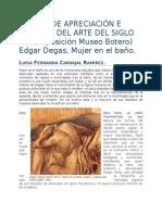 Reseña de Apreciación e Historia Del Arte Del Siglo Xx