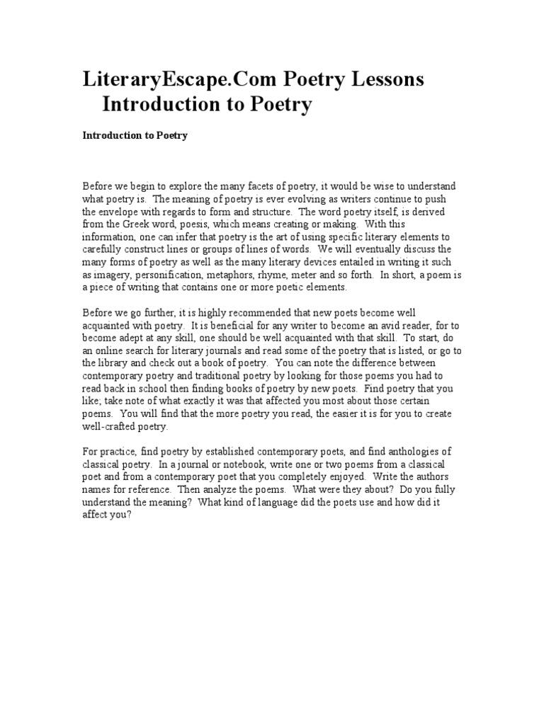 Poetry lesson metre poetry poetry buycottarizona