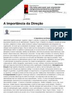 A Importância Da Direção - Artigos - Dinheiro - Administradores