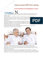 President Sirisena Saved UNP From Being Hijacked