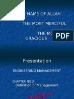 Define Management Chap-02