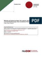 Fulda H.-F. -  Methode und System bei Hegel