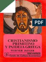 Jaeger_cristianismo Primitivo y Paideia Griega