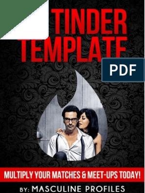 The Tinder Template | Tinder (App) | Online Dating Service