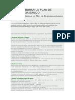 Cómo Elaborar Un Plan de Emergencia Básico