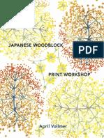 Japanese Woodblock Print Workshop by April Vollmer - Excerpt