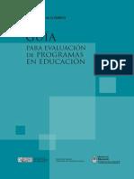 Evaluación de Programas en Evaluación