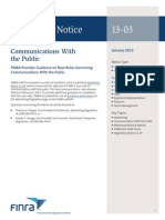 Financial Communications With the Public