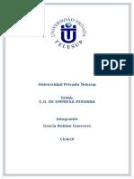 e.o. de Empresa Peruana