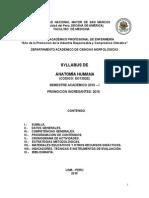 Syllabus.enf.14.3 Anatomia de Enfermeria Dr. h. Mondragon2015