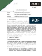 098-13 - MTC - OCI - Plazo Para Solicitar El Adelanto Directo en Obras