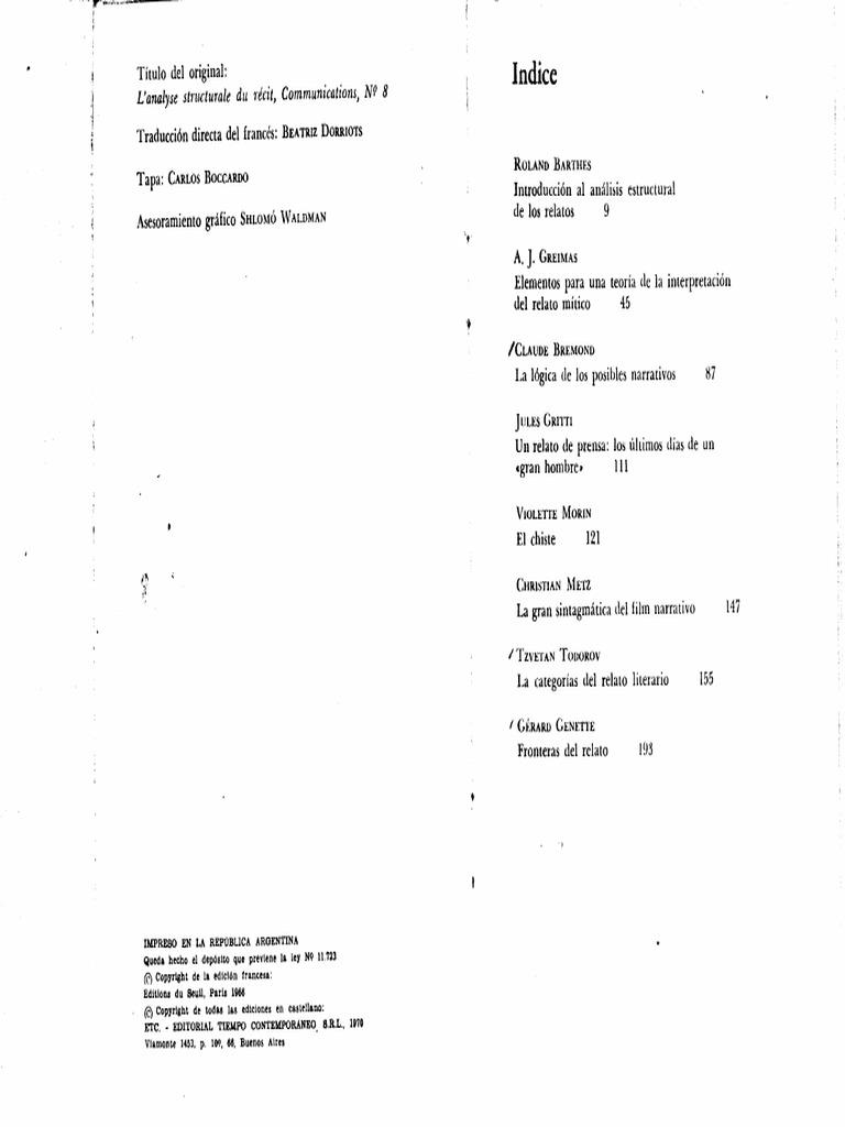 Barthes y Todorov: Análisis Estructural del relato.pdf