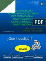 3 Que Investigar, Criterios y Justificacion