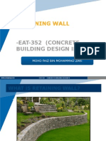 Design of Retaining Wall