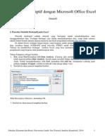 Statistik Deskriptif dengan Microsoft Office Excel