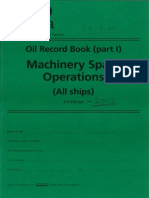 UK Oil Record Book Part-1 Machinery Spaces