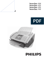 User's Manual Philips Laserfax 925