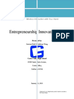 entrepreneurship innovation plan