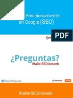 Taller de Posicionamiento en Google (SEO)