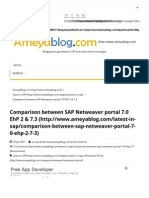 Comparison Between SAP Netweaver Portal 7.0 EhP 2 & 7.3 - AmeyaBlog.comameyaBlog