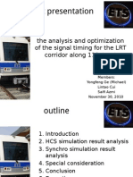 Optimization of signal timing for 10 corridor
