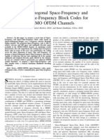 Quasi-Orthogonal Space-Frequency and Space Time Frequency Block Codes for MIMO OFDM Channels