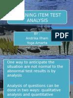 Analisis Tes Item Hasil Belajar