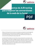 3 herramientas de A/B testing para mejorar las conversiones de la web de tu hotel