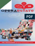 Operaestate Festival Veneto pre-programma 2015