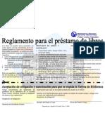 Reglamento para el Préstamo de Libros-Biblioteca Pedro Carlos Timothee