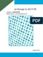RC Beam Design ACI 318m-11 Manual