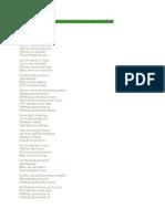 Lyrics of Nothing