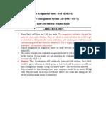 Lab Assignment Sheet-2013