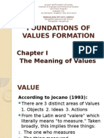 Foundations of Values Formation