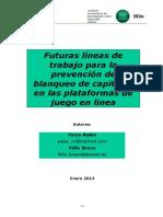 Futuras Líneas de Trabajo Para La Prevención de Blanqueo de Capitales en Las Plataformas de Juego en Línea