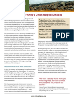A Policy to Recover Chile's Urban Neighbourhoods