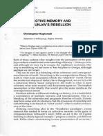 Collective memory and Chingunjav's rebellion
