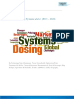 Dosing Systems Market -2015 – 2020- -Food and Beverage