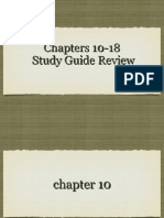 final exam chapters 10-18 review