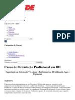 Curso de Orientação Profissional Em Belo Horizonte _ CESDE - Centro de Estudos e Desenvolvimento Educacional